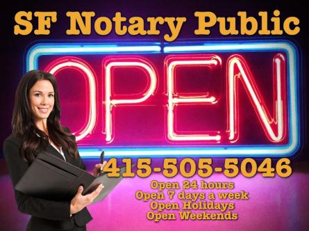 notary public is open weekends